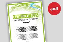 Prisma Tibro, Sweden | Prisma Light AB | Prisma Eliott | El-Kretsen Certifikat 2015
