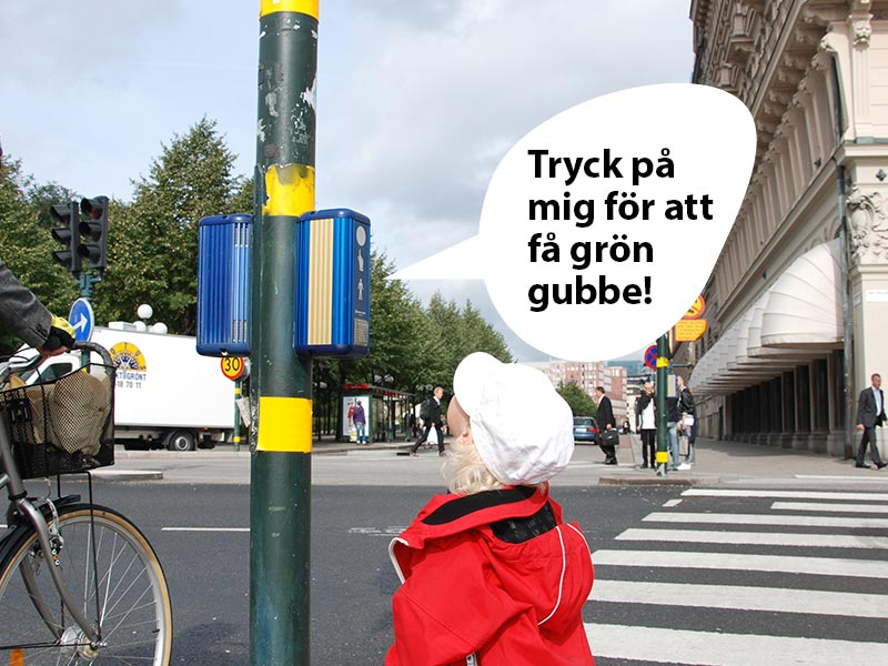 Prisma Tibro, Sweden - Spela in meddelande, talande övergångssignal