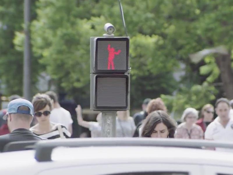 Prisma Tibro, Sweden - Dancing Pedestrian Signal