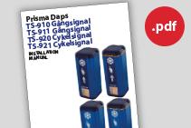 Prisma Tibro | Prisma Daps TS-910, TS-911, TS-920, TS-921 | Manual