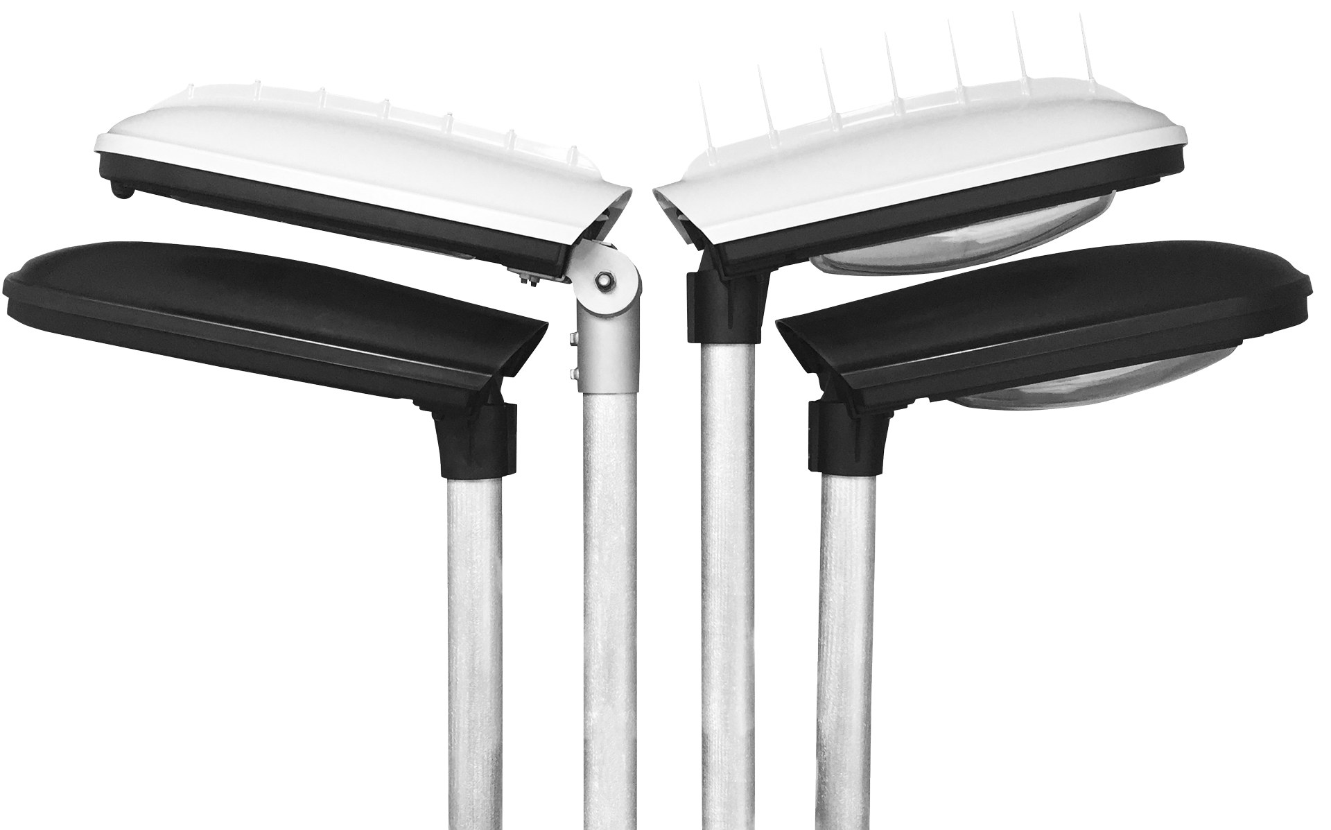 Prisma Tibro, Sweden   Prisma Eliott   Steglös inställning   LED gatubelysning   LED gatubelysning - Kupa eller planglas, Fågelpinnar eller slät kåpa