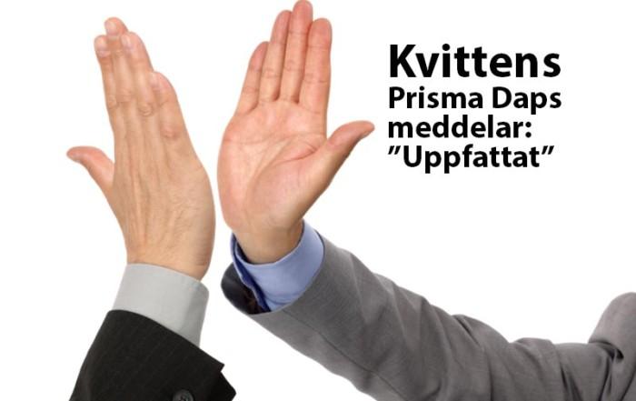 Prisma Tibro, Sweden   Prisma Daps   Kvittens - Prisma Daps bekräftar att korsningen förbereds för att ge dig grön gubbe