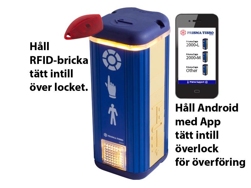 Prisma Tibro, Sweden | Prisma Daps | NFC, Near Field Communication, för RFID och Android App: Prisma Daps