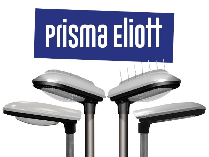 Prisma Tibro, Sweden   Prisma Eliott   LED gatubelysning  Vägbelysning   Polykarbonat, polycarbonate, PC, plastic