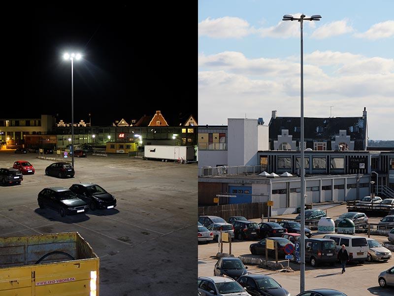 Prisma Tibro, Sweden   Prisma Eliott   LED gatubelysning  Vägbelysning   Parkering, industritomt, hamn   Viborg