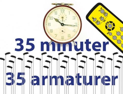 35 minuter, 35 armaturer