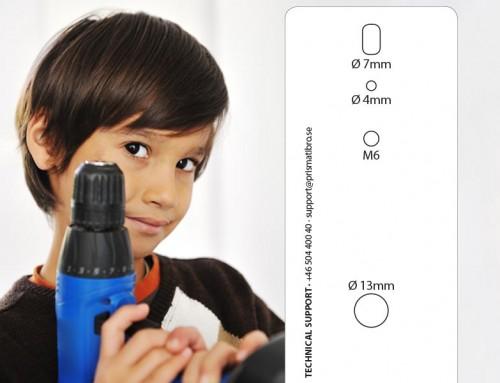 Borra-hål-hjälpmedel för Prisma Daps