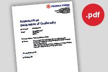 Prisma Tibro, Sweden | Prisma DI | Asbestos Free Declaration of Conformity