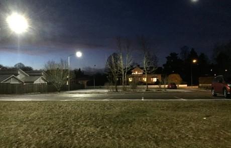 Prisma Tibro, Sweden | Prisma Eliott | LED gatubelysning |Vägbelysning | Säkerhet i motionsspår, elljusspår, motionsspår, löparspår | Referens: Götene Parkering