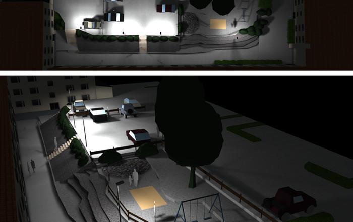 Prisma Tibro, Sweden | Prisma Eliott | LED gatubelysning |Vägbelysning | Säkerhet i motionsspår, elljusspår, motionsspår, löparspår | Ljusberäkning Bostadsområde i flera nivåer