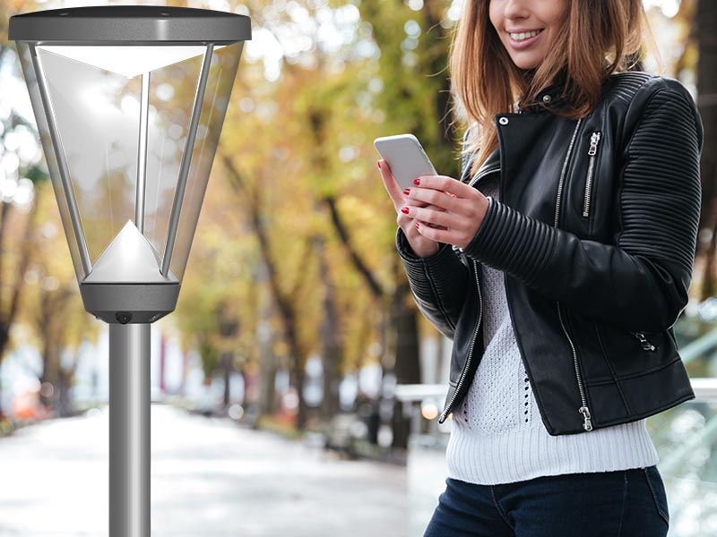 Prisma Tibro, Sweden | Prisma Light Ellie | LED Parkbelysning, Gatubelysning | Android-app tillsammans med Dongle