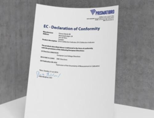 Prisma DI EC Declaration of Conformity