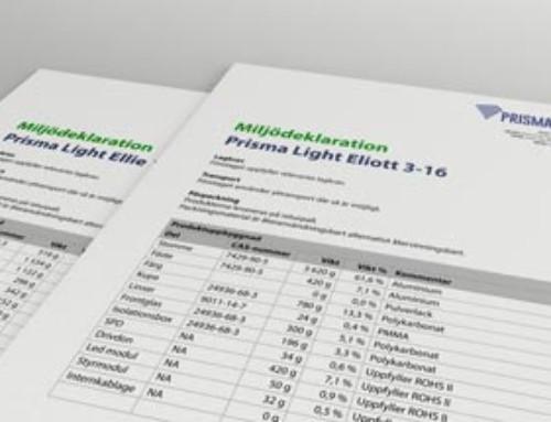Prisma Light Miljödeklaration