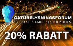 20% rabatt Gatubelysningsforum 2019