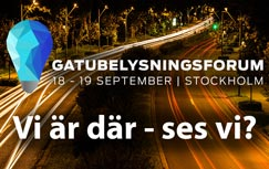 PrismaTibro presenterar Prisma Light på Gatubelysningsforum 2019