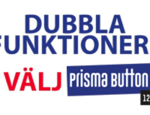Prisma Button 1200 kan delas på mitten