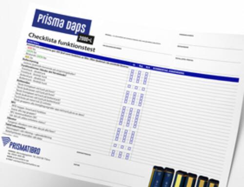 Prisma Daps 2000•L Checklista Funktion
