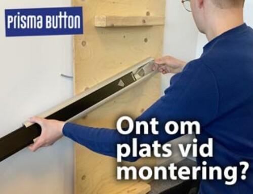 Prisma Button: Ont om plats vid montering