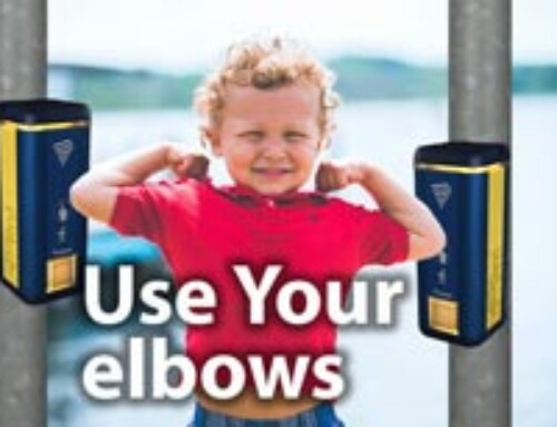Push with elbow