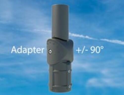 Adapter för belysningsstolpar med besvärlig vinkel