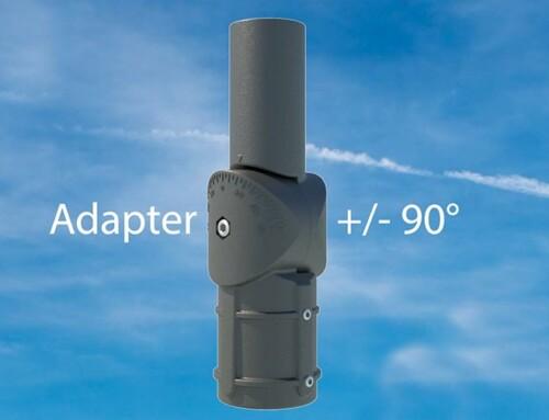 Adapter för att kompensera vinkel +/- 90°