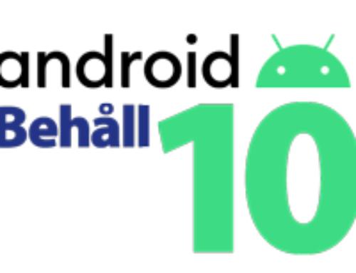 Avvakta uppdatering från Android 10