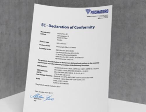 Prisma Light Ellie Detect CE Declaration of Conformity