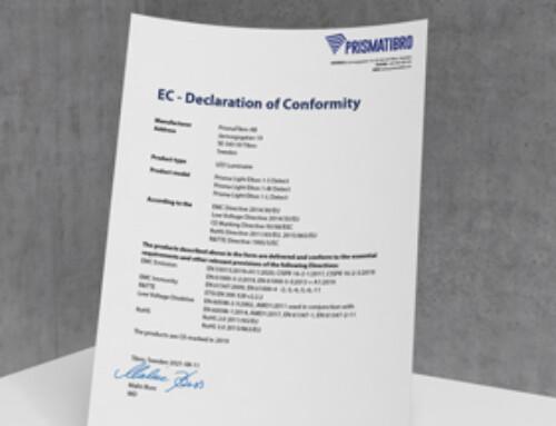 Prisma Light Elton Detect CE Declaration of Conformity