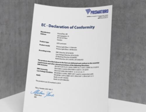 Prisma Light Elton Remote CE Declaration of Conformity