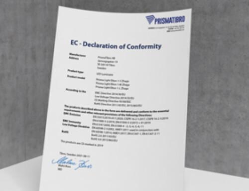 Prisma Light Elton Zhaga CE Declaration of Conformity