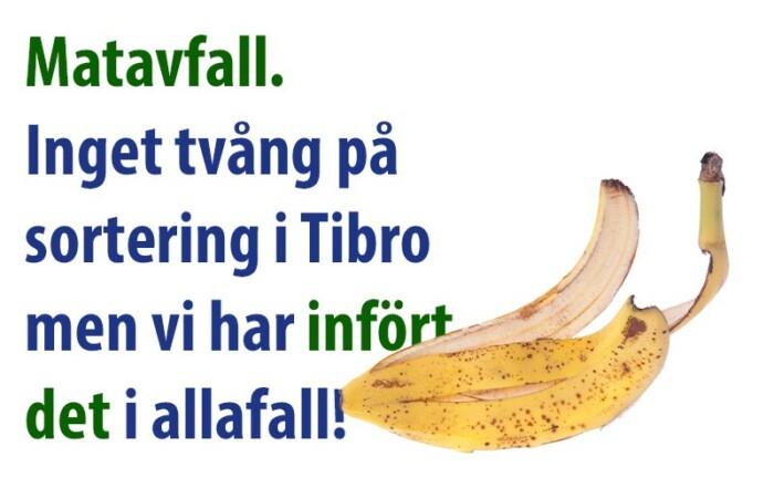 Matavfall – sortering inget krav i Tibro men...